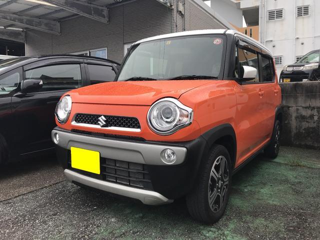 沖縄の中古車 スズキ ハスラー 車両価格 98万円 リ済込 2016(平成28)年 2.3万km オレンジII