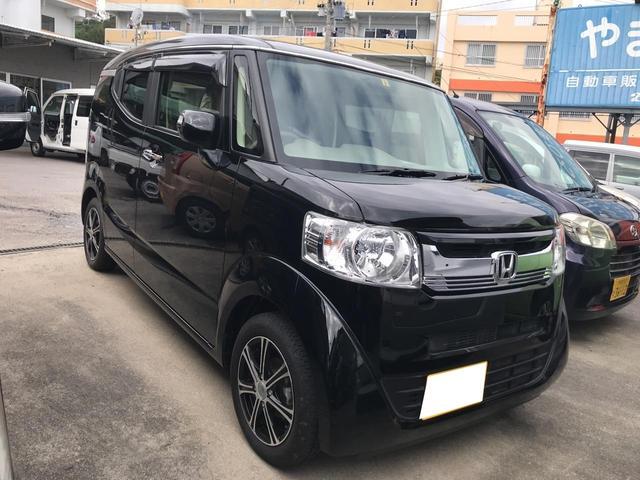 沖縄の中古車 ホンダ N-BOXスラッシュ 車両価格 88万円 リ済込 2015(平成27)年 2.2万km ブラック
