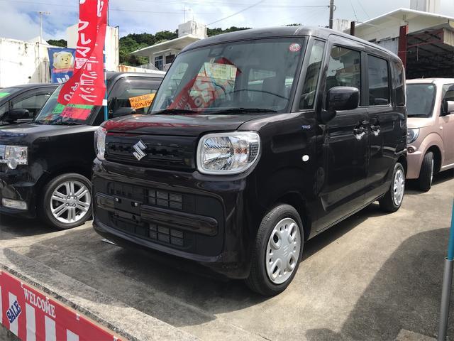 沖縄の中古車 スズキ スペーシア 車両価格 119万円 リ済込 2018(平成30)年 1.2万km ブラック