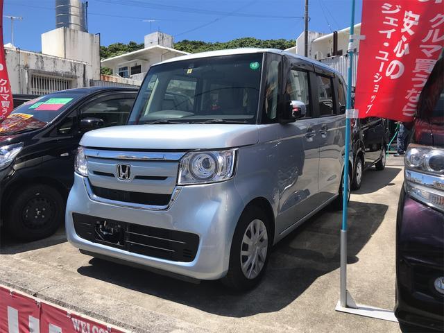 沖縄の中古車 ホンダ N-BOX 車両価格 118万円 リ済込 2018(平成30)年 0.7万km ライトブルー