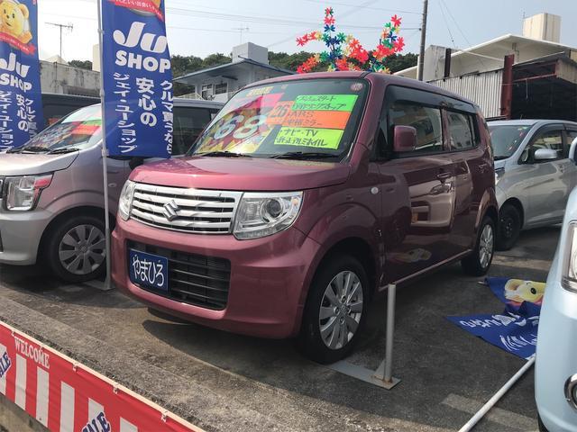 沖縄の中古車 スズキ MRワゴンWit 車両価格 68万円 リ済込 2014(平成26)年 4.3万km ピンク