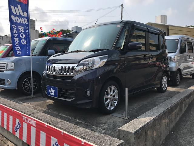 沖縄県の中古車ならeKスペースカスタム カスタムG スマートキー プッシュスタート インパネAT 片側パワースライドドア
