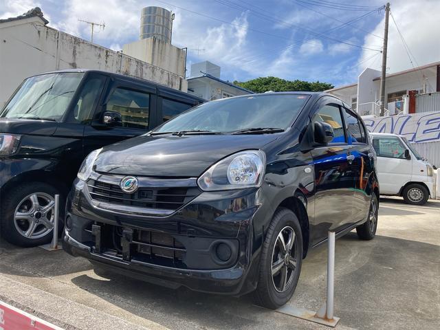 沖縄の中古車 ダイハツ ミライース 車両価格 58万円 リ済込 2016(平成28)年 6.2万km ブラック