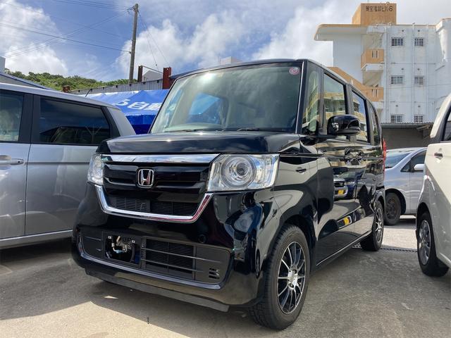 沖縄の中古車 ホンダ N-BOX 車両価格 105万円 リ済込 2019年 2.1万km ブラック