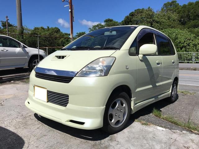 沖縄の中古車 スズキ MRワゴン 車両価格 15万円 リ済込 平成13年 11.0万km ベージュ