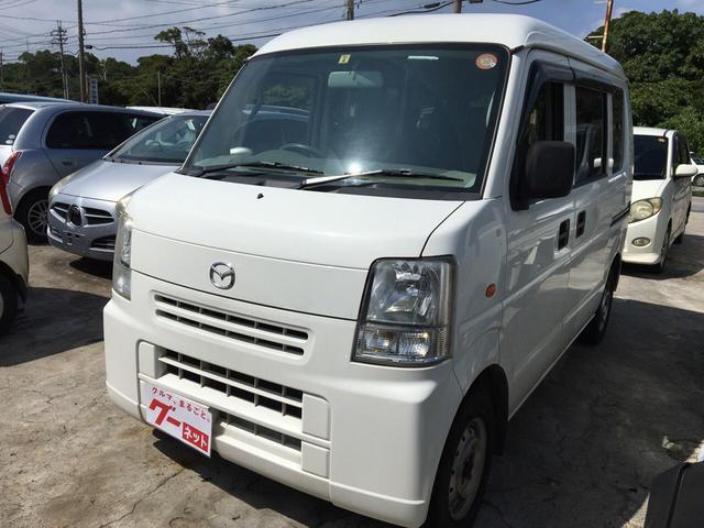 沖縄の中古車 マツダ スクラム 車両価格 39万円 リ済込 平成22年 14.8万km ホワイト
