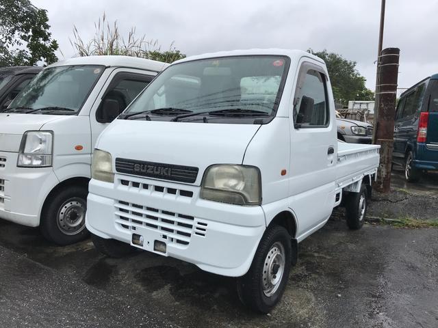 沖縄の中古車 スズキ キャリイトラック 車両価格 19万円 リ済込 平成14年 19.8万km ホワイト