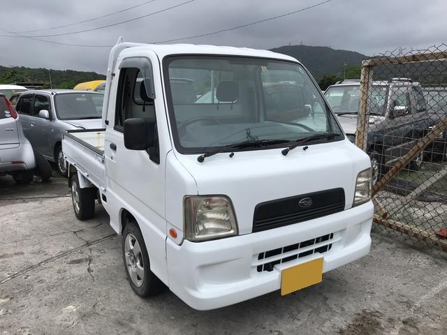 沖縄の中古車 スバル サンバートラック 車両価格 29万円 リ済込 2003(平成15)年 9.8万km ホワイト