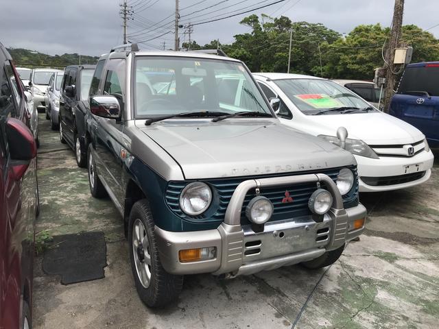沖縄の中古車 三菱 パジェロミニ 車両価格 8万円 リ済込 1998(平成10)年 10.8万km シルバーII