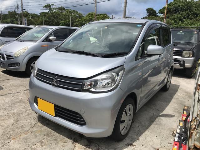 沖縄の中古車 三菱 eKワゴン 車両価格 43万円 リ済込 2014(平成26)年 11.5万km シルバー