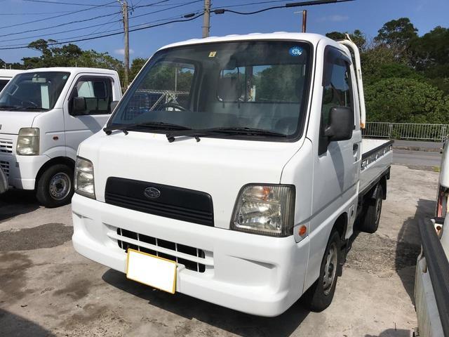 沖縄の中古車 スバル サンバートラック 車両価格 37万円 リ済込 2005(平成17)年 11.8万km ホワイト