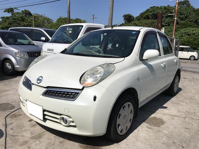 沖縄の中古車 日産 マーチ 車両価格 20万円 リ済込 2007(平成19)年 12.4万km パールホワイト