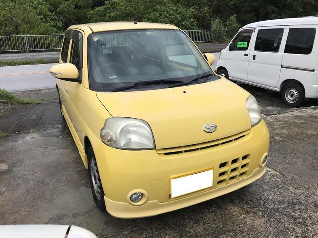沖縄の中古車 ダイハツ エッセ 車両価格 15万円 リ済込 2007(平成19)年 17.4万km イエロー