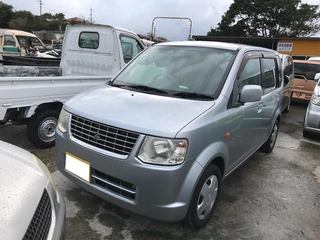 沖縄の中古車 三菱 eKワゴン 車両価格 19万円 リ済込 2009(平成21)年 15.8万km シルバー
