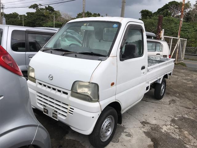 沖縄の中古車 マツダ スクラムトラック 車両価格 19万円 リ済込 2002(平成14)年 10.7万km ホワイト