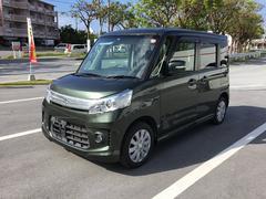 沖縄の中古車 スズキ スペーシアカスタム 車両価格 68万円 リ済別 平成25年 8.5万K グリーン