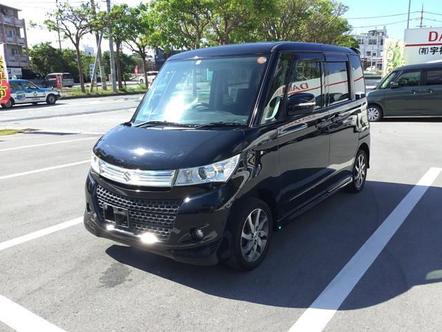 沖縄の中古車 スズキ パレットSW 車両価格 53万円 リ済別 平成22年 9.7万km ブラック