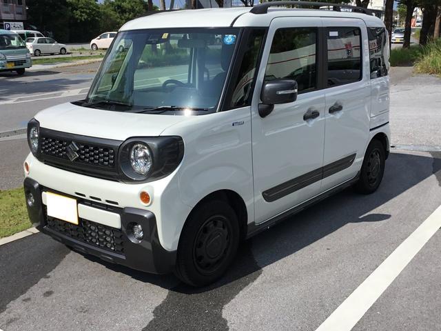 沖縄県の中古車ならスペーシアギア ハイブリッドXZ 8インチフルセグナビ付!