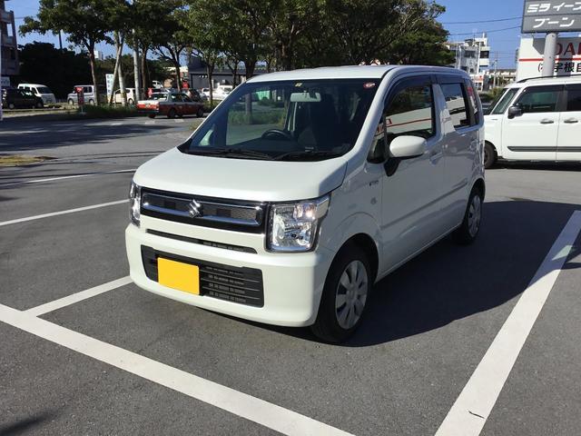 沖縄の中古車 スズキ ワゴンR 車両価格 98万円 リ済別 2018(平成30)年 2.0万km ホワイト