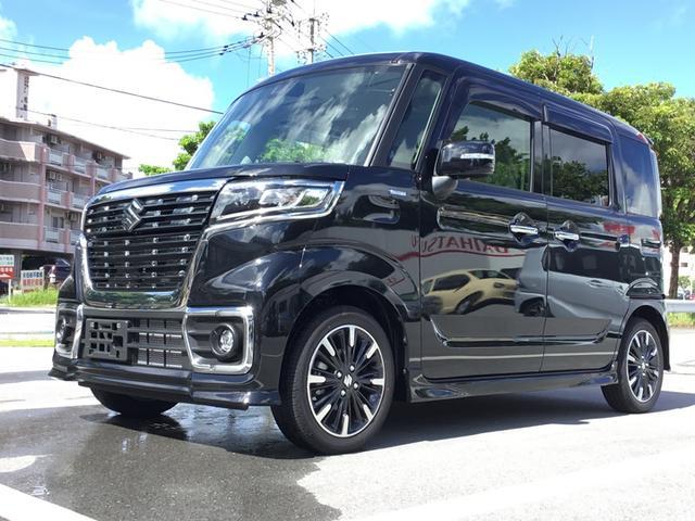 沖縄の中古車 スズキ スペーシアカスタム 車両価格 154万円 リ済別 2020(令和2)年 5km ブルーイッシュブラックパール3