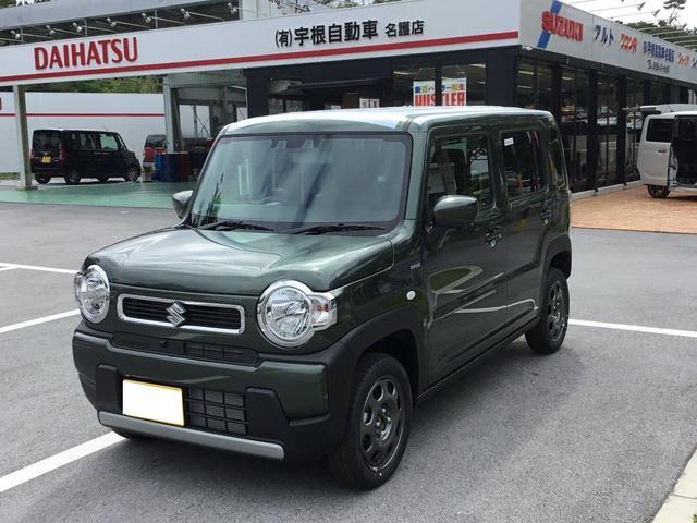 沖縄の中古車 スズキ ハスラー 車両価格 139万円 リ済別 2020(令和2)年 7km グリーン