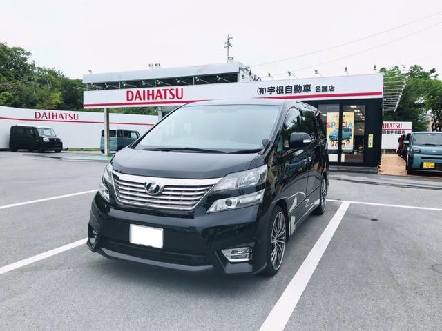 沖縄の中古車 トヨタ ヴェルファイア 車両価格 104万円 リ済別 2008(平成20)年 13.8万km ブラック