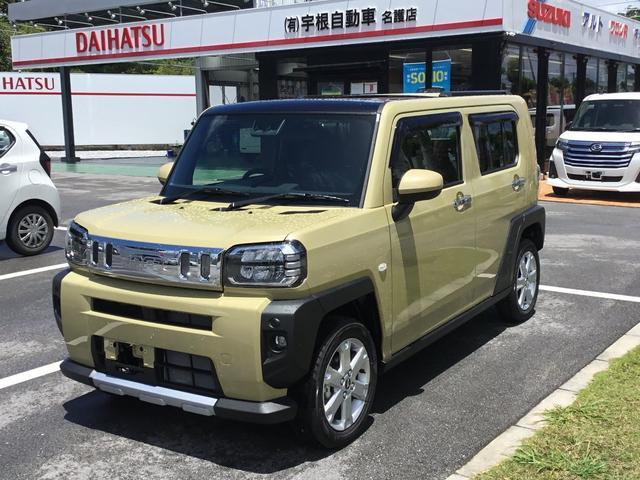 沖縄の中古車 ダイハツ タフト 車両価格 148万円 リ済別 2021(令和3)年 5km サンドベージュメタリック
