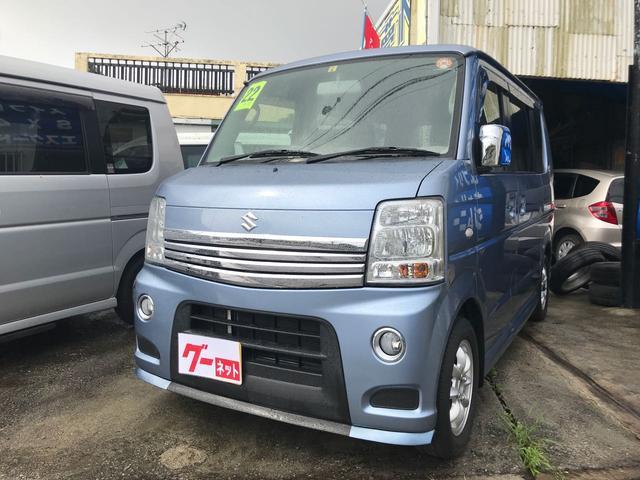 沖縄県の中古車ならエブリイワゴン PZターボ 本土中古車 社外エアロ 社外マフラー