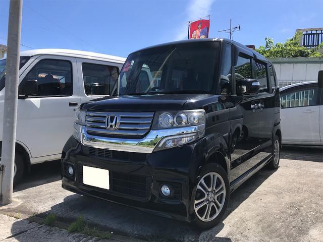 沖縄の中古車 ホンダ N-BOXカスタム 車両価格 78万円 リ済込 2013(平成25)年 7.0万km ブラック