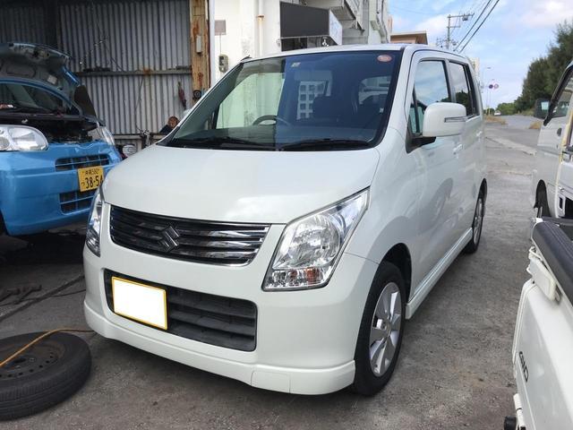 沖縄の中古車 スズキ ワゴンR 車両価格 38万円 リ済込 2010(平成22)年 4.7万km パールホワイト