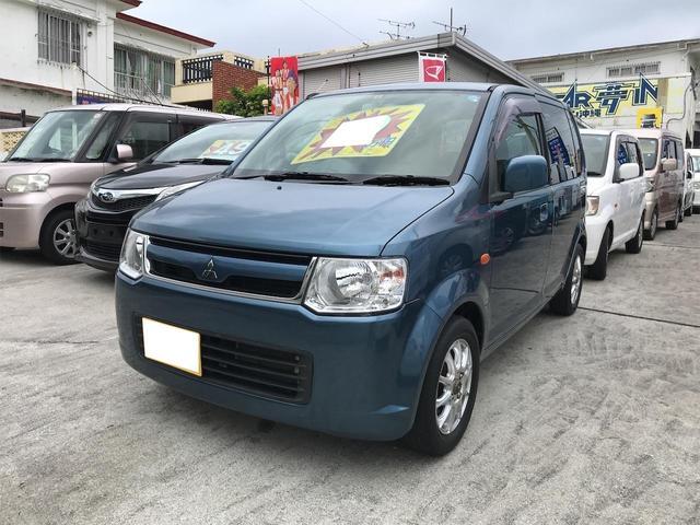 沖縄の中古車 三菱 eKワゴン 車両価格 19万円 リ済込 2007(平成19)年 13.7万km ブルー