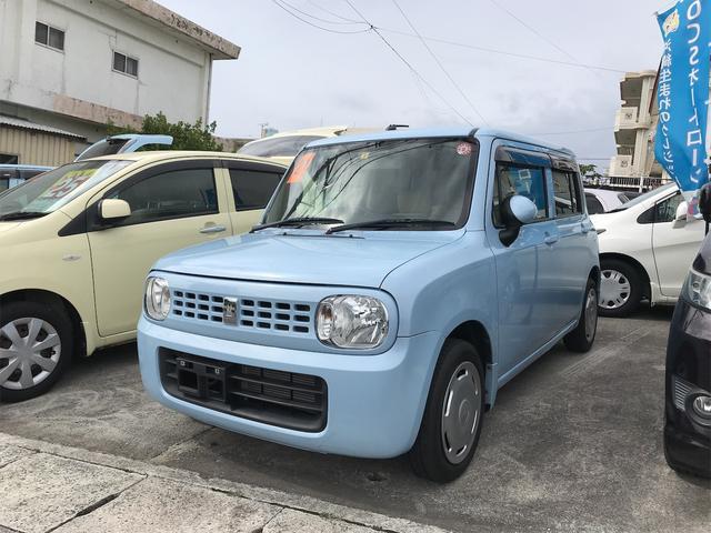 沖縄の中古車 スズキ アルトラパン 車両価格 35万円 リ済込 2009(平成21)年 10.6万km ライトブルー