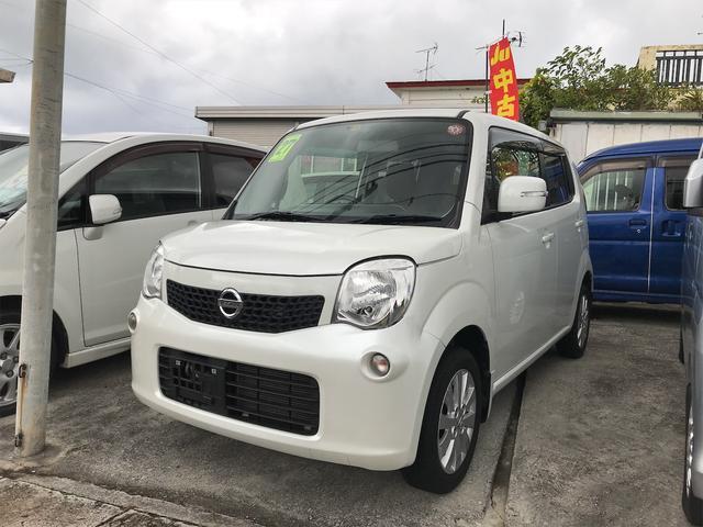 沖縄の中古車 日産 モコ 車両価格 49万円 リ済込 2015(平成27)年 10.8万km パールホワイト