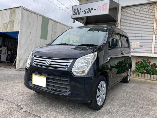 沖縄の中古車 スズキ ワゴンR 車両価格 23万円 リ済込 2012(平成24)年 11.3万km ブラック