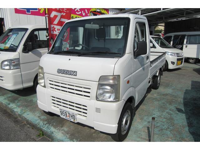 沖縄の中古車 スズキ キャリイトラック 車両価格 37万円 リ済込 平成18年 12.8万km ホワイト