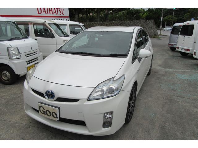沖縄の中古車 トヨタ プリウス 車両価格 67万円 リ済込 2010(平成22)年 13.4万km ホワイトM