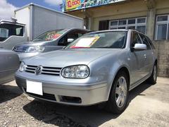 沖縄の中古車 フォルクスワーゲン VW ゴルフワゴン 車両価格 28万円 リ済込 2003年 6.6万K シルバーM