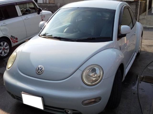 沖縄の中古車 フォルクスワーゲン VW ニュービートル 車両価格 9万円 リ済込 2001(平成13)年 10.4万km ライトブルーM