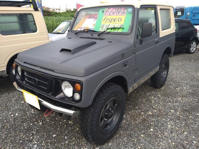 沖縄の中古車 スズキ ジムニー 車両価格 65万円 リ済込 1997(平成9)年 17.6万km グレーII