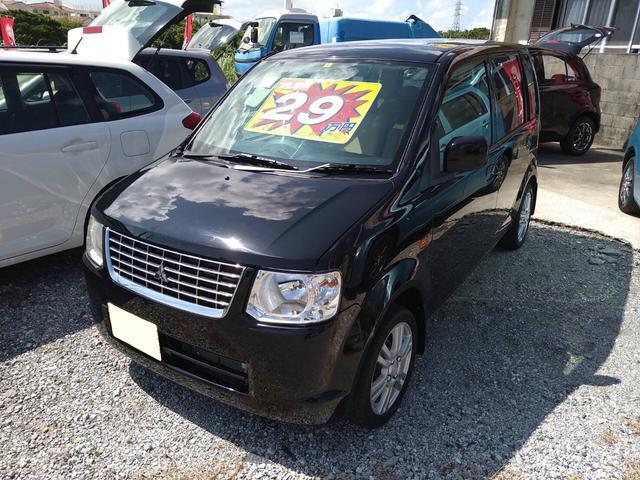 沖縄の中古車 三菱 eKワゴン 車両価格 28万円 リ済込 2011(平成23)年 9.4万km ブラックM