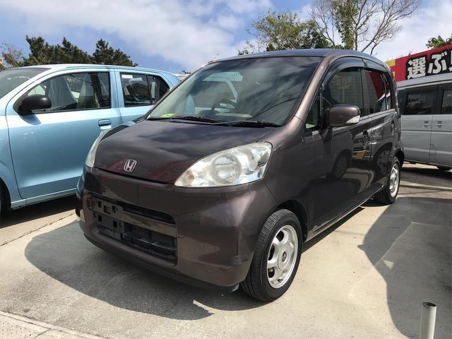 沖縄の中古車 ホンダ ライフ 車両価格 20万円 リ済込 2008(平成20)年 9.5万km ブラウン