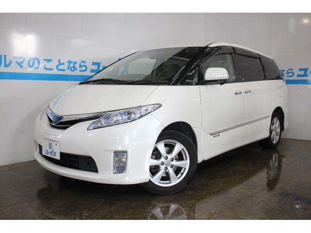 沖縄県の中古車ならエスティマハイブリッド X OP5年保証対象車 両側パワスラ 純正HDDナビ