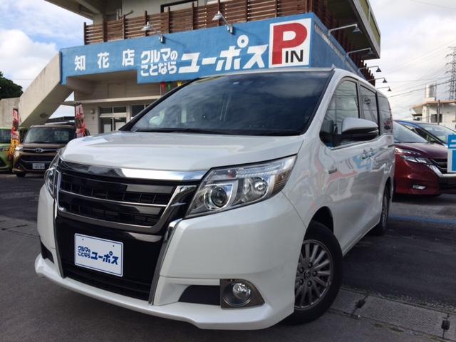 沖縄県の中古車ならエスクァイア ハイブリッドXi OP10年保証対象車 電動パワースライドドア トヨタ純正ナビ(NSZN-W64T) 純正アルミ15インチ シートヒーター ドライブレコーダー(DAT-H64A)