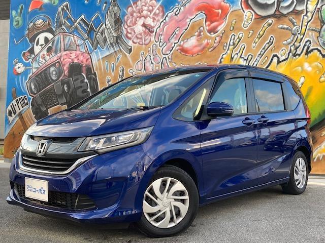 沖縄の中古車 ホンダ フリード+ 車両価格 179万円 リ済別 2017(平成29)年 2.2万km 紺
