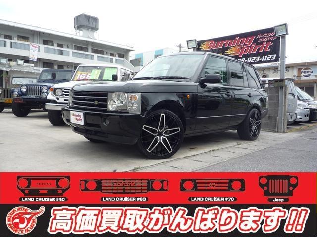 沖縄の中古車 ランドローバー レンジローバー 車両価格 149万円 リ済別 2004年 12.0万km ブラック