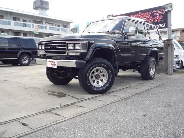 沖縄の中古車 トヨタ ランドクルーザー60 車両価格 169万円 リ済別 平成1年 25.0万km ブラック