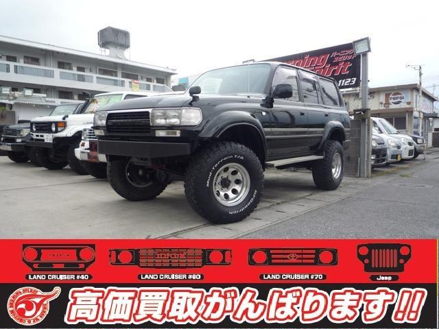 沖縄の中古車 トヨタ ランドクルーザー80 車両価格 139万円 リ済別 1992(平成4)年 27.0万km ブラック