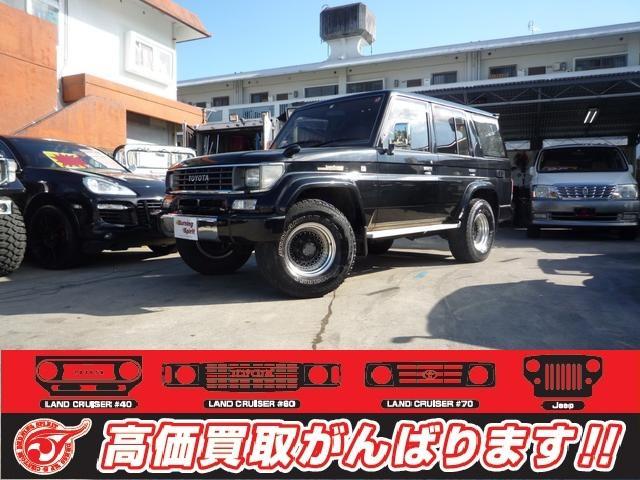 沖縄の中古車 トヨタ ランドクルーザープラド 車両価格 155万円 リ済別 1995(平成7)年 27.4万km ブラック