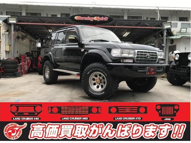 沖縄の中古車 トヨタ ランドクルーザー80 車両価格 179万円 リ済別 1993(平成5)年 22.3万km ブラック