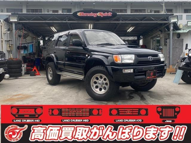 沖縄の中古車 トヨタ ハイラックスサーフ 車両価格 108万円 リ済別 1998(平成10)年 29.6万km ブラック
